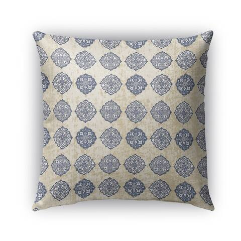 Kavka Designs blue palencia outdoor pillow with insert