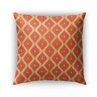 Kavka Designs red; gold catania outdoor pillow with insert