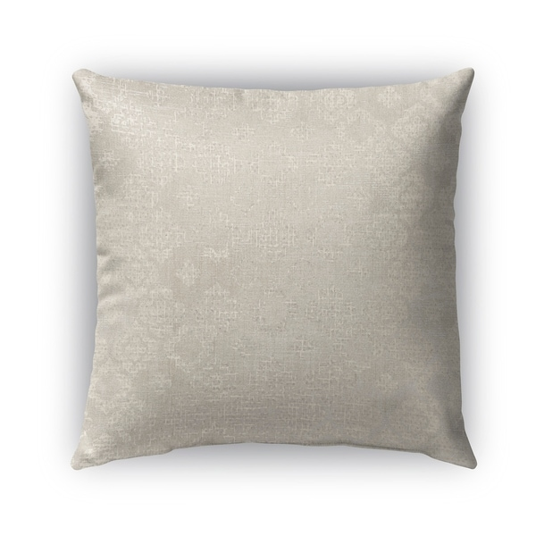 Kavka Designs ivory; grey versilia outdoor pillow with insert