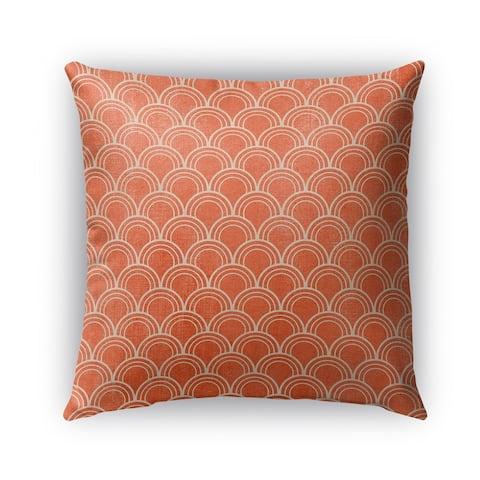 Kavka Designs orange modena outdoor pillow with insert