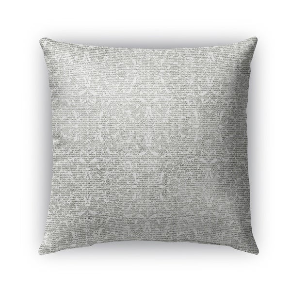 Kavka Designs grey huelva outdoor pillow with insert