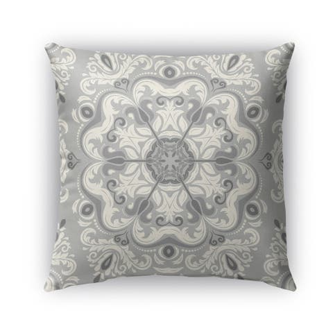 Kavka Designs grey naples outdoor pillow with insert