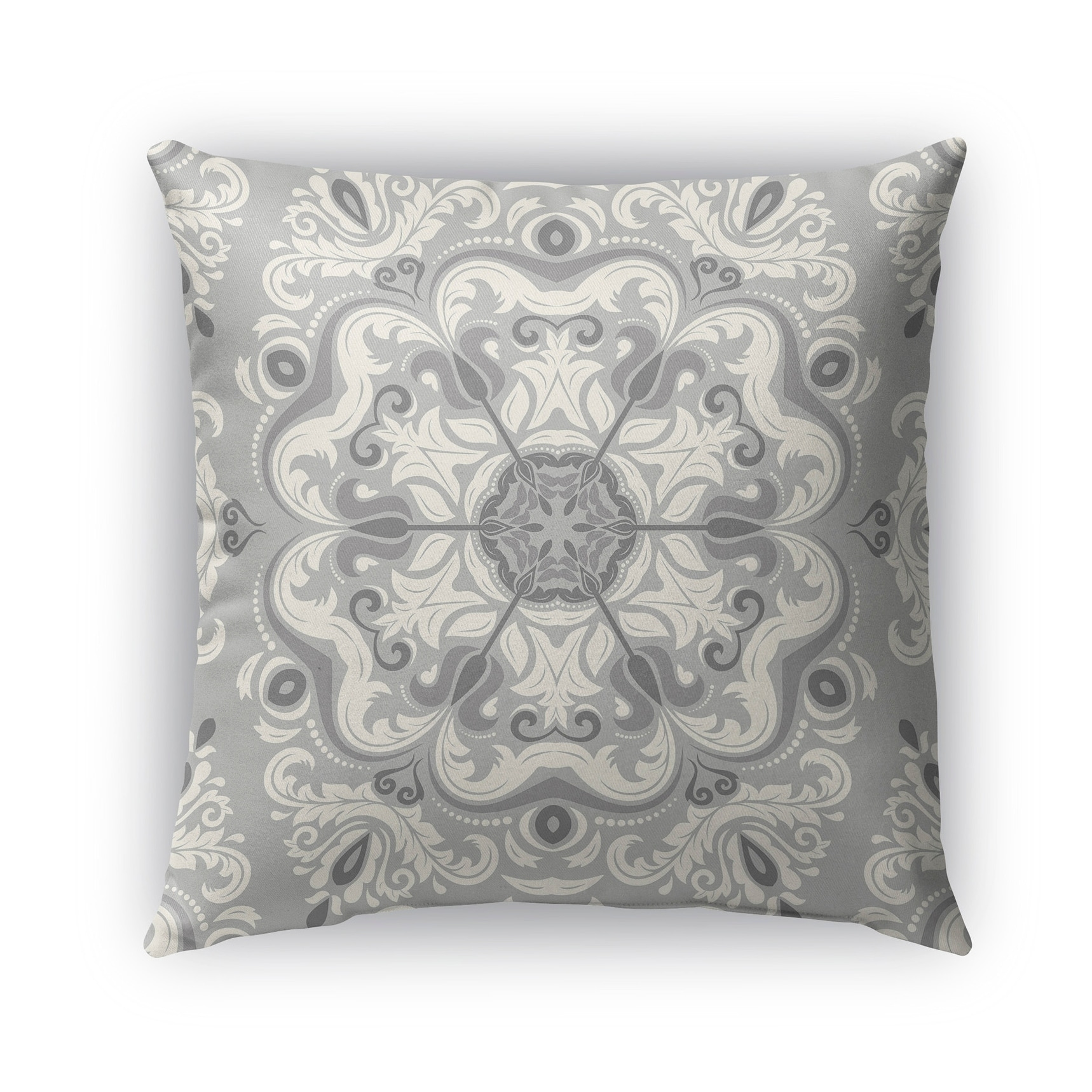 Kavka Designs grey naples outdoor pillow with insert (16 x 16)