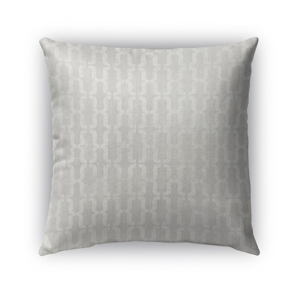 Kavka Designs grey lucca outdoor pillow with insert