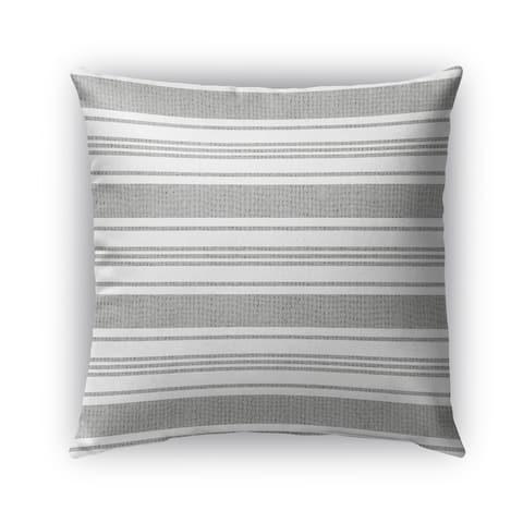 Kavka Designs grey; white cummaquid outdoor pillow with insert