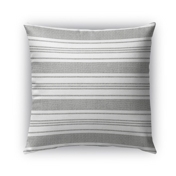 Shop Kavka Designs Grey White Cummaquid Outdoor Pillow With Insert