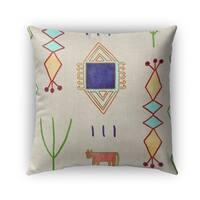 Kavka Designs yellow; green; teal; purple chrarda outdoor pillow with insert