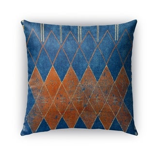 Kavka Designs blue; orange mestara outdoor pillow with insert