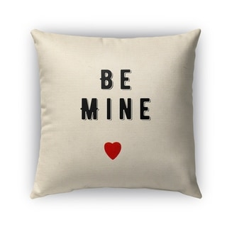 Kavka Designs black; red be mine outdoor pillow with insert