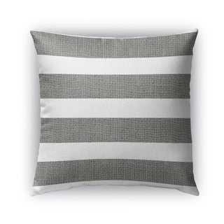 Kavka Designs charcoal; white centerville outdoor pillow with insert