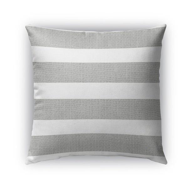 Kavka Designs silver; white centerville outdoor pillow with insert