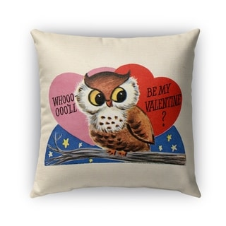 Kavka Designs pink; red; blue; brown be my valentine outdoor pillow with insert