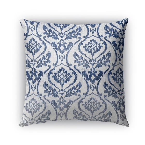 Kavka Designs blue; white seabury outdoor pillow with insert