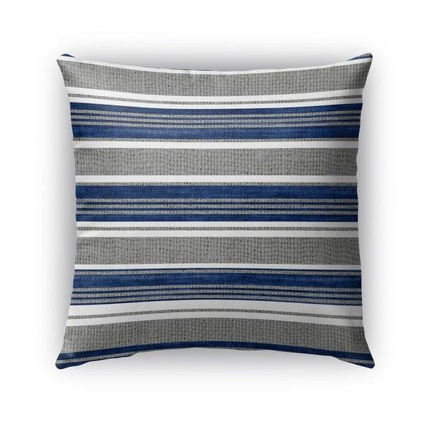 Kavka Designs blue; grey sagamore outdoor pillow with insert