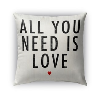 Kavka Designs black; red all you need is love outdoor pillow with insert