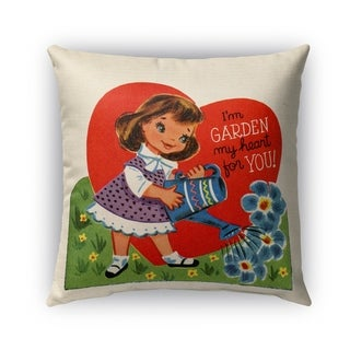 Kavka Designs red; green; blue; purple garden my heart for you outdoor pillow with insert
