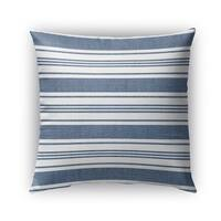 Kavka Designs blue; white orleans outdoor pillow with insert