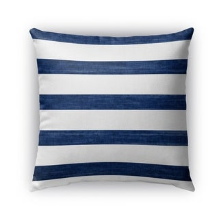 Kavka Designs blue; white mashpee outdoor pillow with insert