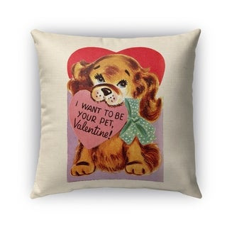 Kavka Designs red; pink; blue; brown i want to be your pet outdoor pillow with insert