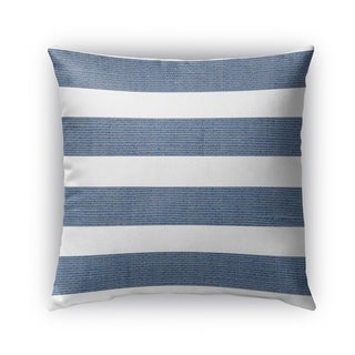 Kavka Designs blue; white centerville outdoor pillow with insert