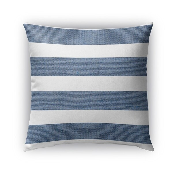 Kavka Designs blue; white centerville outdoor pillow with insert