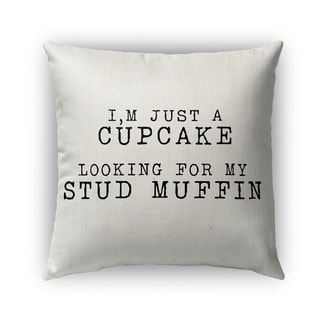Kavka Designs black cupcake looking for a stud muffin 2 outdoor pillow with insert