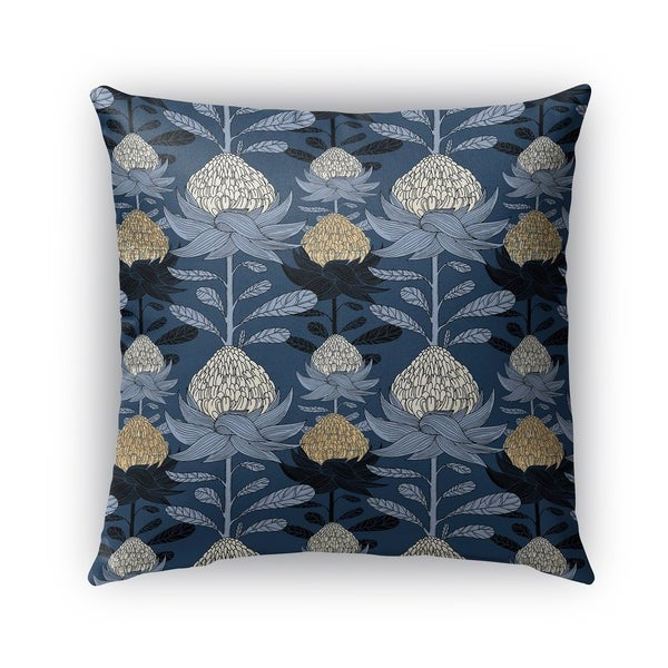 Shop Kavka Designs Blue Beige Nautical Blossom Outdoor Pillow With
