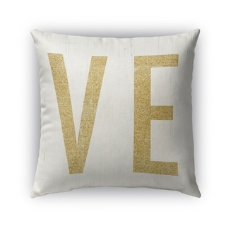 Kavka Designs gold; ivory ve outdoor pillow with insert