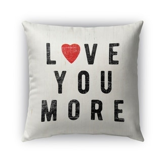 Kavka Designs red; black love you more outdoor pillow with insert