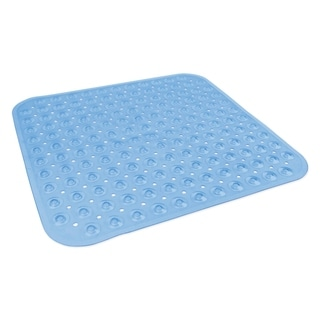 Square Vinyl Bath Mat - Blue