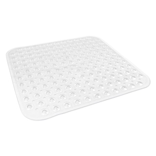 Square Vinyl Bath Mat - Clear