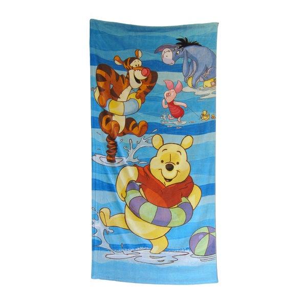 """Winnie the Pooh """"Beach Fun"""" 28x58-inch Beach Towel"""