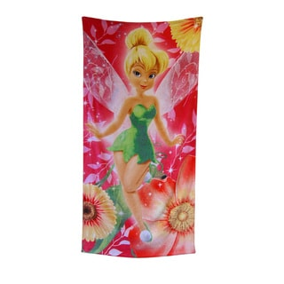 "Tinkerbell ""Floral Fairy"" 28x58-inch Beach Towel"