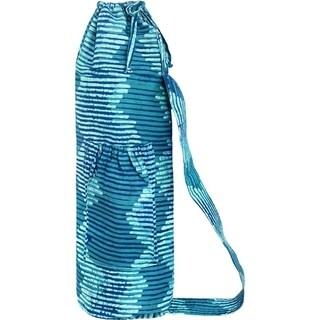 Hand Batiked Starburst Design Yoga Bag - Black (Ghana)