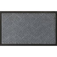 "Ribbed Carpet Rubber Backed Entrance Scraper Grey DoorMat 18"" x 30"""