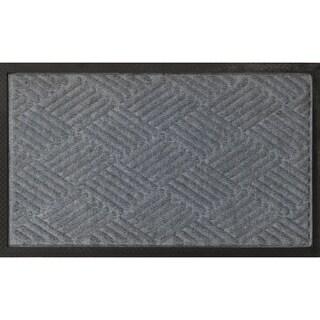 "Ribbed Carpet Rubber Backed Entrance Scraper Grey DoorMat 18"" x 30"""