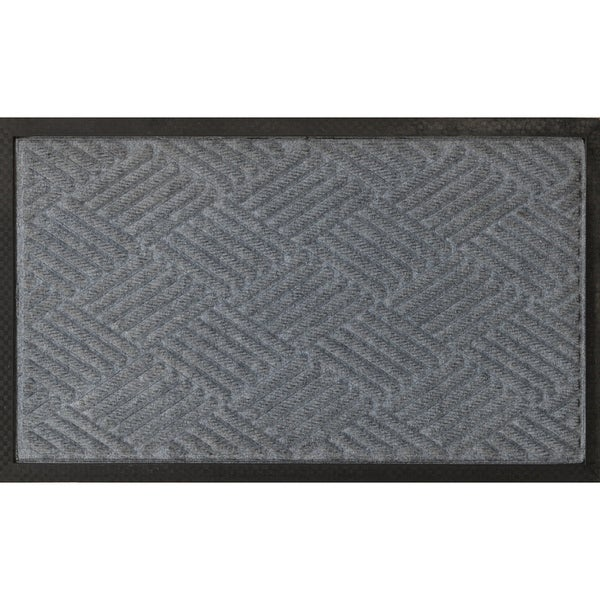 Shop Ribbed Carpet Rubber Backed Entrance Scraper Grey