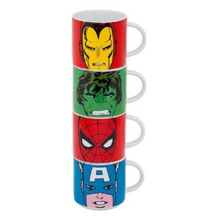 Marvel Comics 4pc Stacking Ceramic Mug Set