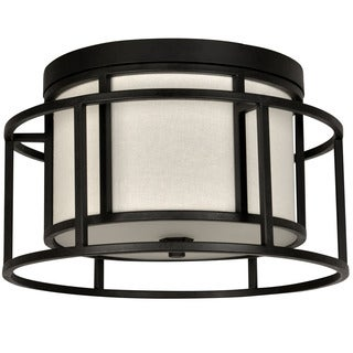 Crystorama Brian Patrick Flynn Hulton Collection 2-light Matte Black Flush Mount