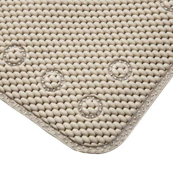 Kenney Foam Bath Mat, Taupe