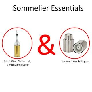 VinoNinja Stainless Steel Vacuum Wine Sealer And Stopper