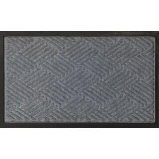 "Ribbed Carpet Rubber Backed Entrance Scraper Grey DoorMat 24"" x 36"""