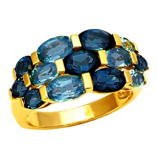 Beverly Hills Charm 14K Yellow Gold 4 3/4 ct Blue Topaz Ring