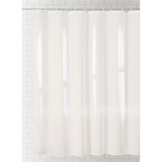 J & M Home Fashions Solid Shower Curtain