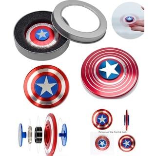 Captain America  Fidget Spinner Aluminum High Quality