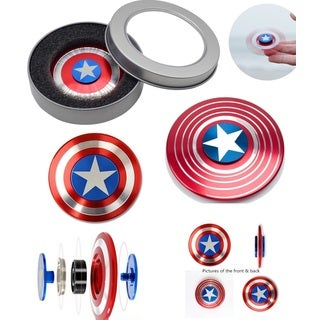 Captain America Fidget Spinner Aluminum High Quality