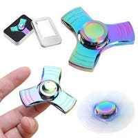 Fidget Hand Spinner Rainbow Tri Fidget  (Anodized Metal)