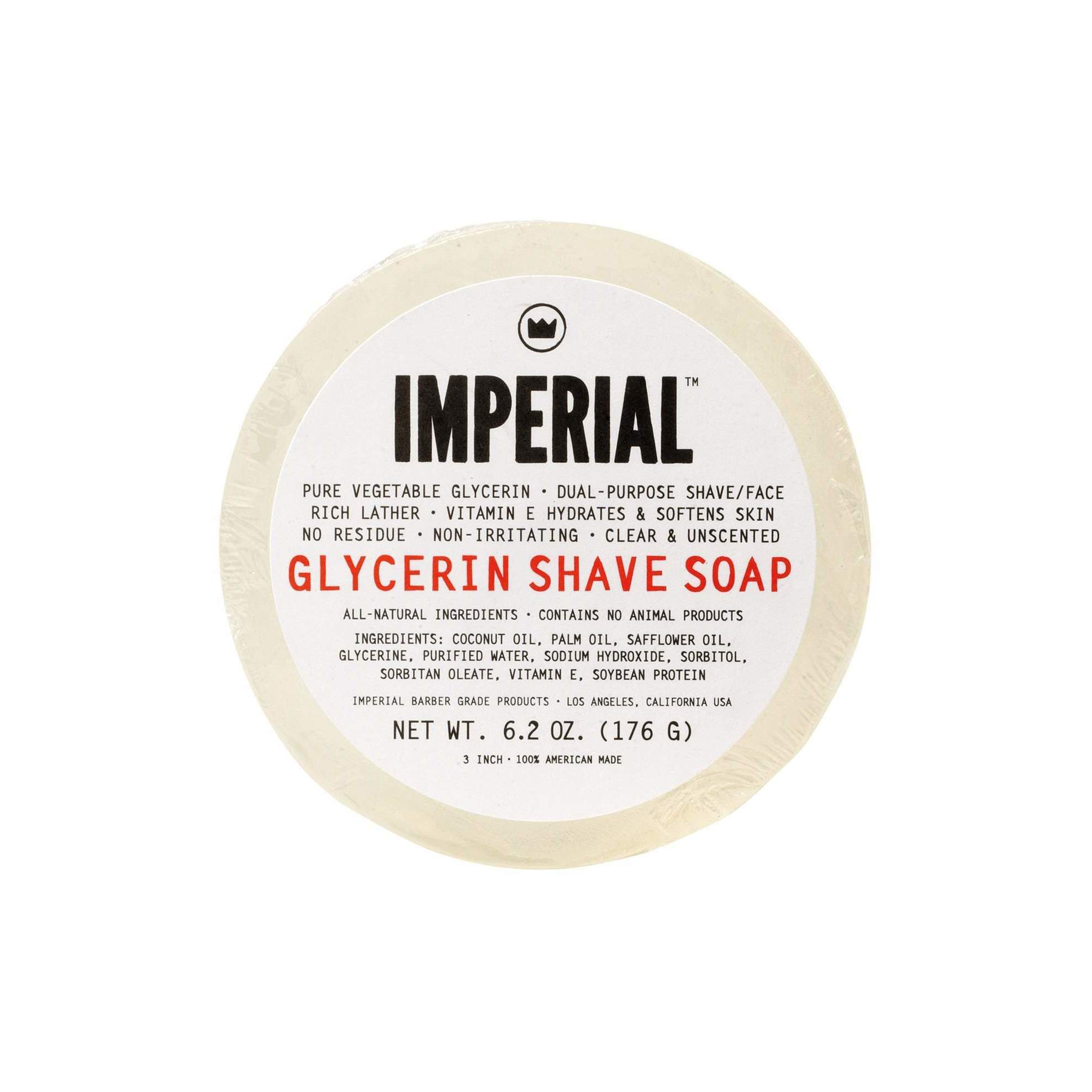Imperial Barber 6.2-ounce Glycerin Puck Shave/Face Soap (...
