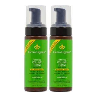 DermOrganic Firm Hold 5-ounce Volume Foam with Argan Oil (Pack of 2)