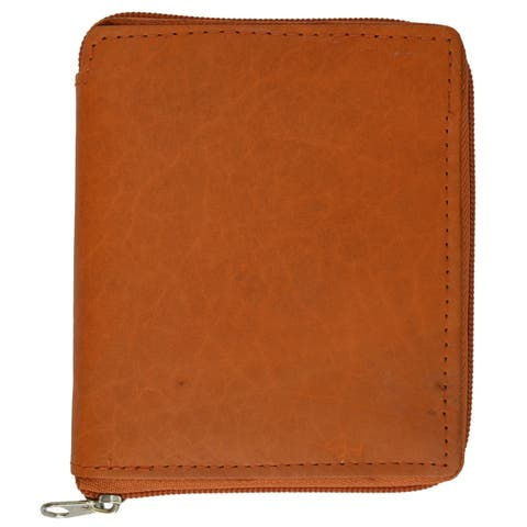Marshal RFID Blocking Men's Leather Zippered Wallet